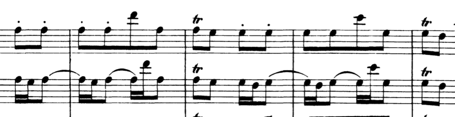Excerpt of Badinerie, from Orchestral Suite no. 2 in B minor by J.S. Bach
