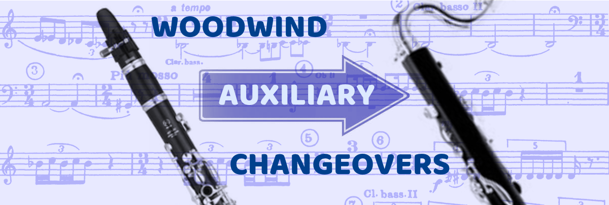Woodwind Auxiliary Changeovers