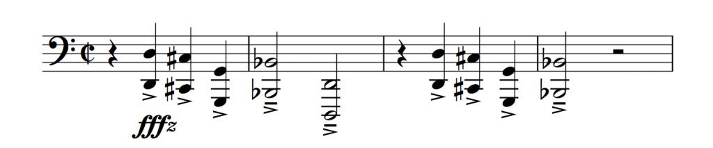 Kylo Ren Theme (approximation)