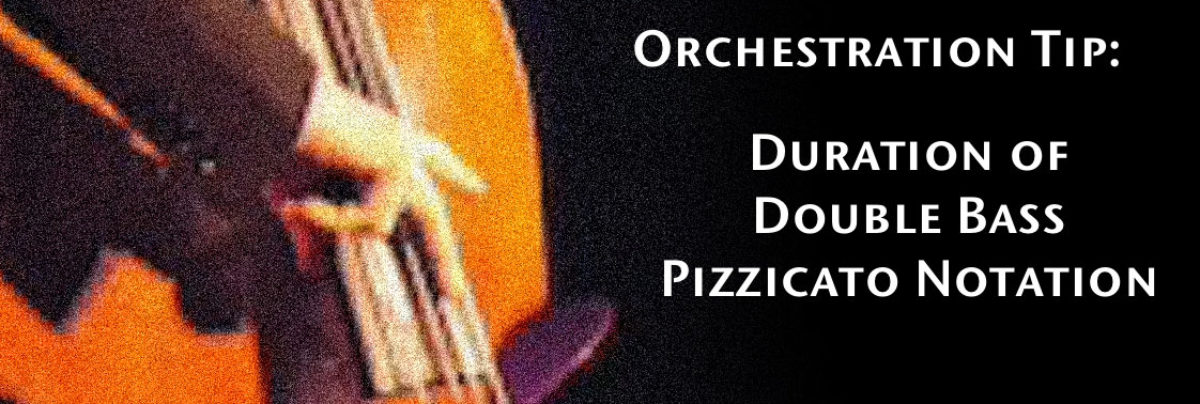 Duration of Double Bass Pizzicato Notation