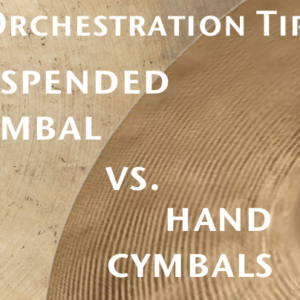 Suspended Cymbal vs. Hand Cymbals