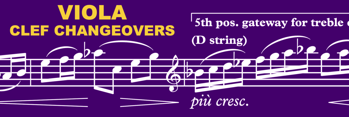 Orchestration Tip: Viola use of treble clef